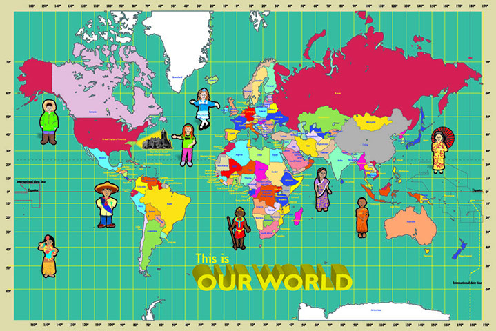 World Map For Wmsumc